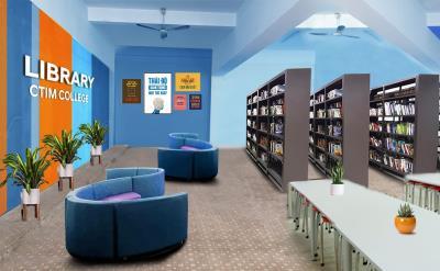 Thư viện và phòng nghỉ trường Cao đẳng CTIM